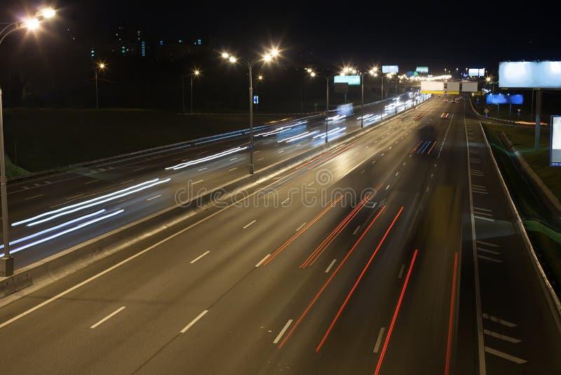 ευρεία εθνική οδός νύχτας στοκ εικόνες με δικαίωμα ελεύθερης χρήσης