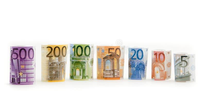 ευρο- απομονωμένα χρήματα στοκ εικόνες
