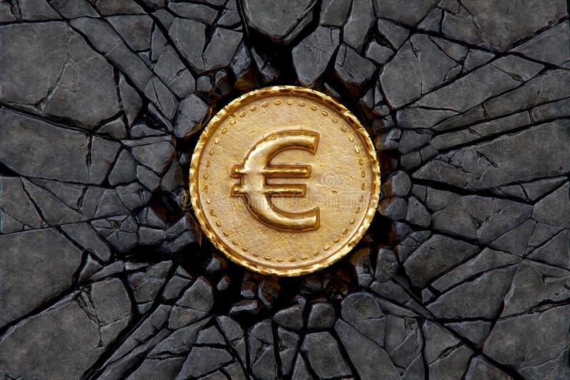 Ευρο- βράχος απεικόνιση αποθεμάτων