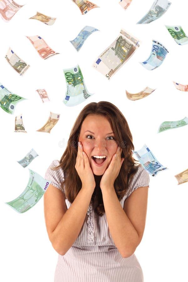 ευρο- βροχή χρημάτων τραπε& στοκ εικόνες με δικαίωμα ελεύθερης χρήσης