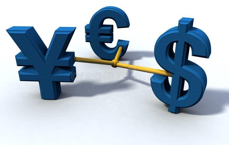 ευρο- γεν δολαρίων ελεύθερη απεικόνιση δικαιώματος