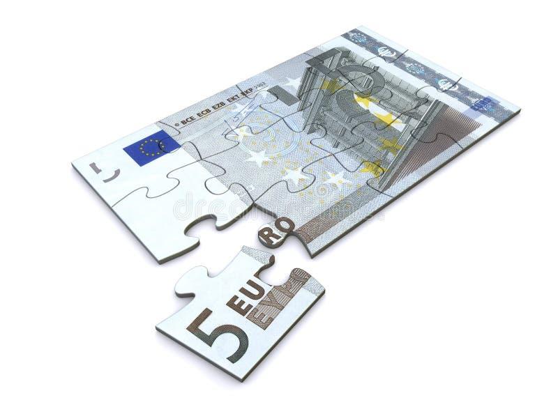 ευρο- γρίφος σημειώσεων 5 απεικόνιση αποθεμάτων