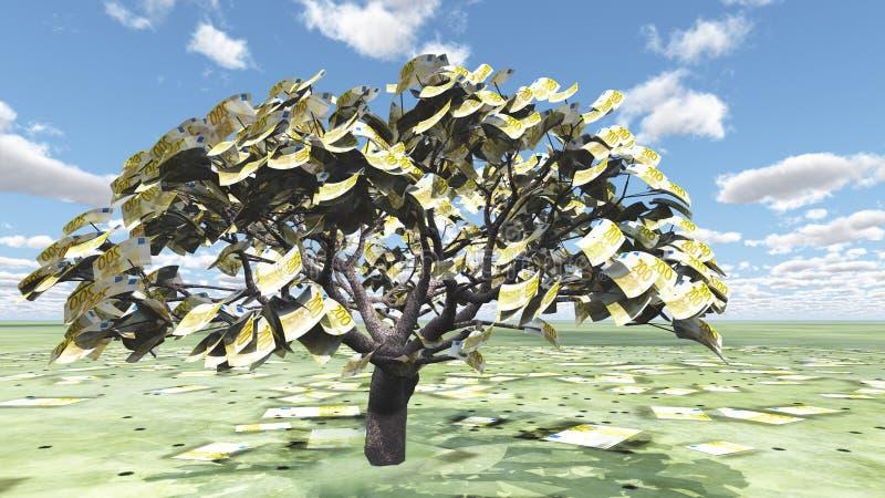 Ευρο- δέντρο ελεύθερη απεικόνιση δικαιώματος
