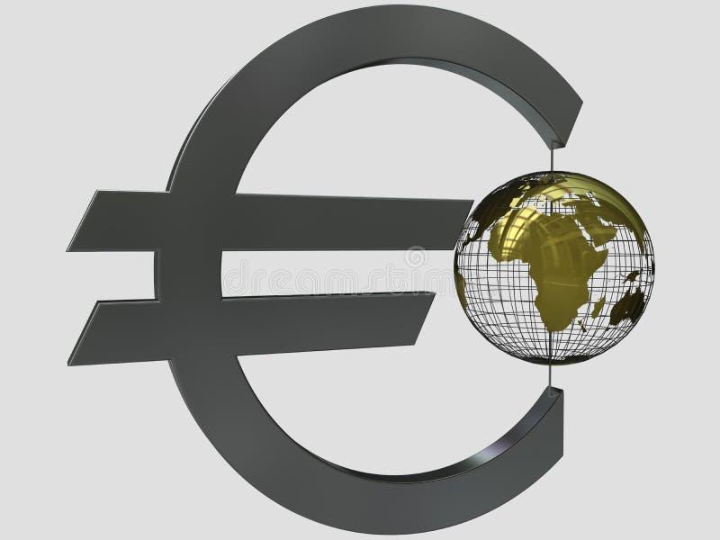 ευρο- κόσμος διανυσματική απεικόνιση