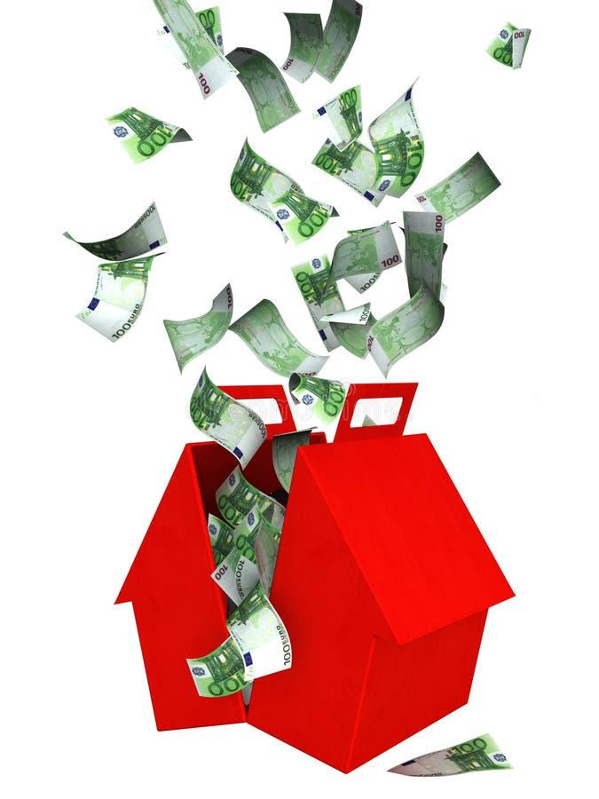 ευρο- μειωμένο σπίτι τραπ&epsil απεικόνιση αποθεμάτων