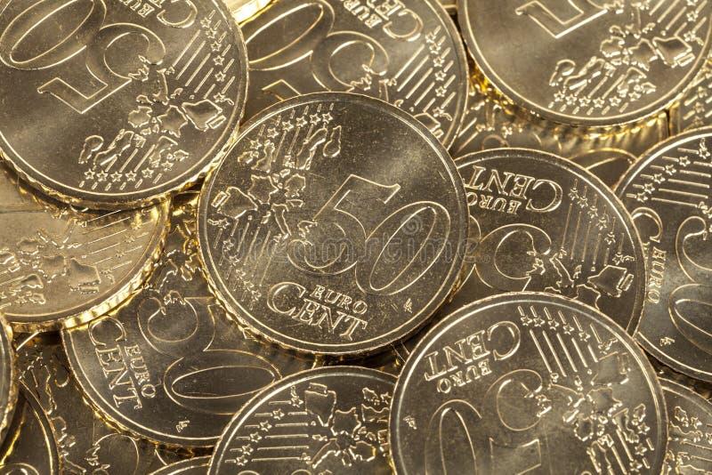 50 ευρο- νομίσματα σεντ στοκ εικόνες με δικαίωμα ελεύθερης χρήσης