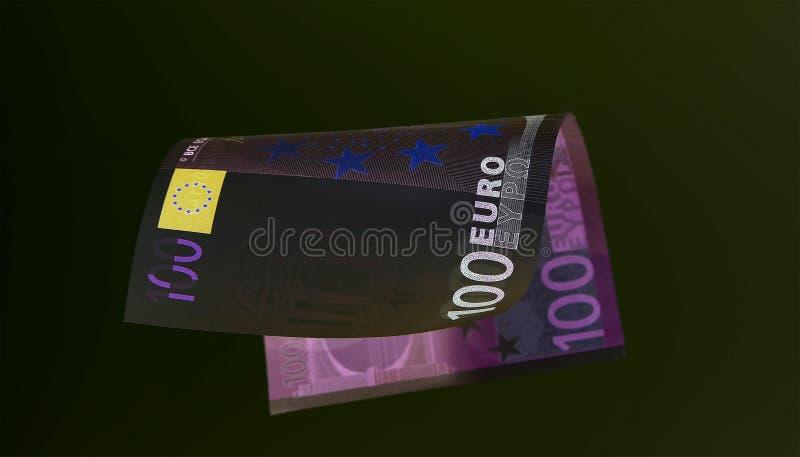 Ευρο- νόμισμα & x28 τραπεζογραμμάτια & x29  στην προστασία UV φωτός στοκ εικόνα