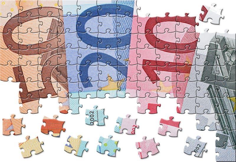 Ευρο- οικονομία τραπεζογραμματίων στοκ φωτογραφία
