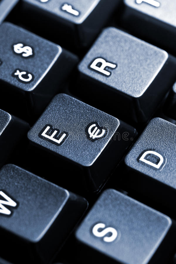 ευρο- πλήκτρο στο πληκτρολόγιο υπολογιστών στοκ φωτογραφίες με δικαίωμα ελεύθερης χρήσης