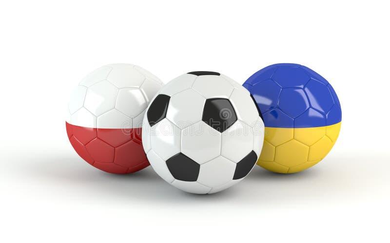 ευρο- ποδόσφαιρο Ουκρανία της Πολωνίας 2012 σφαιρών ελεύθερη απεικόνιση δικαιώματος