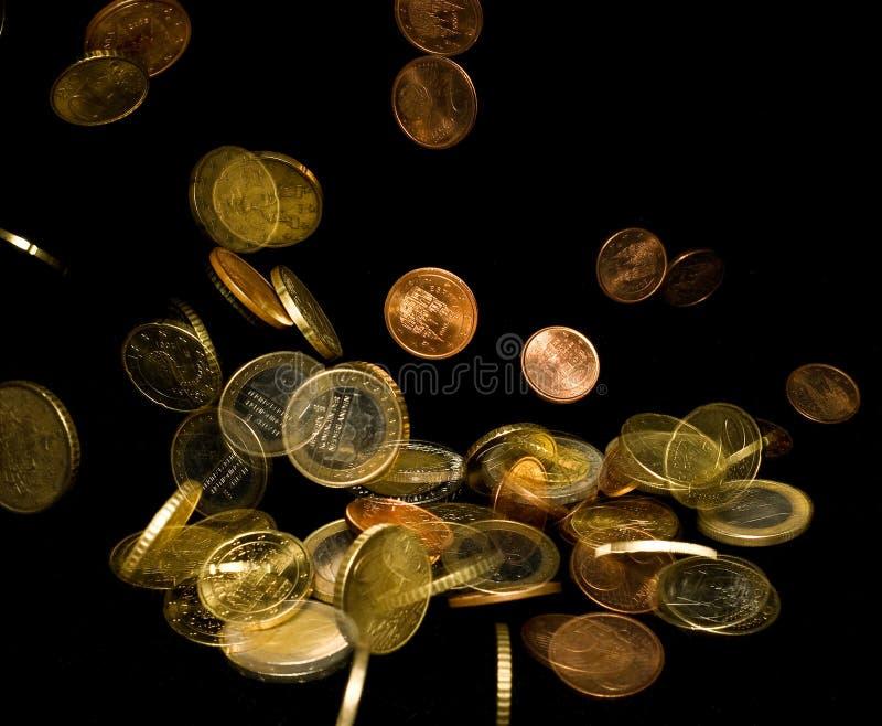 ευρο- πτώση νομίσματος στοκ εικόνες με δικαίωμα ελεύθερης χρήσης