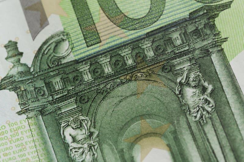 100 ευρο- σημειώσεις - εικόνα στοκ εικόνες