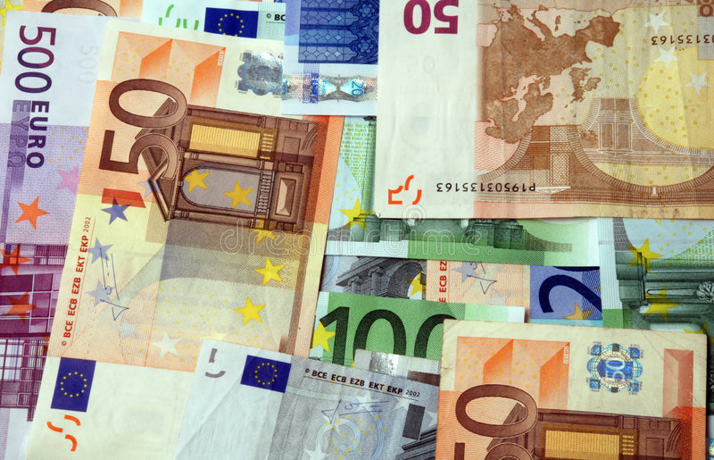 ευρο- σημειώσεις τραπεζών στοκ φωτογραφίες με δικαίωμα ελεύθερης χρήσης