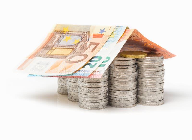 Ευρο- σπίτι, χρηματοδότηση στοκ εικόνες