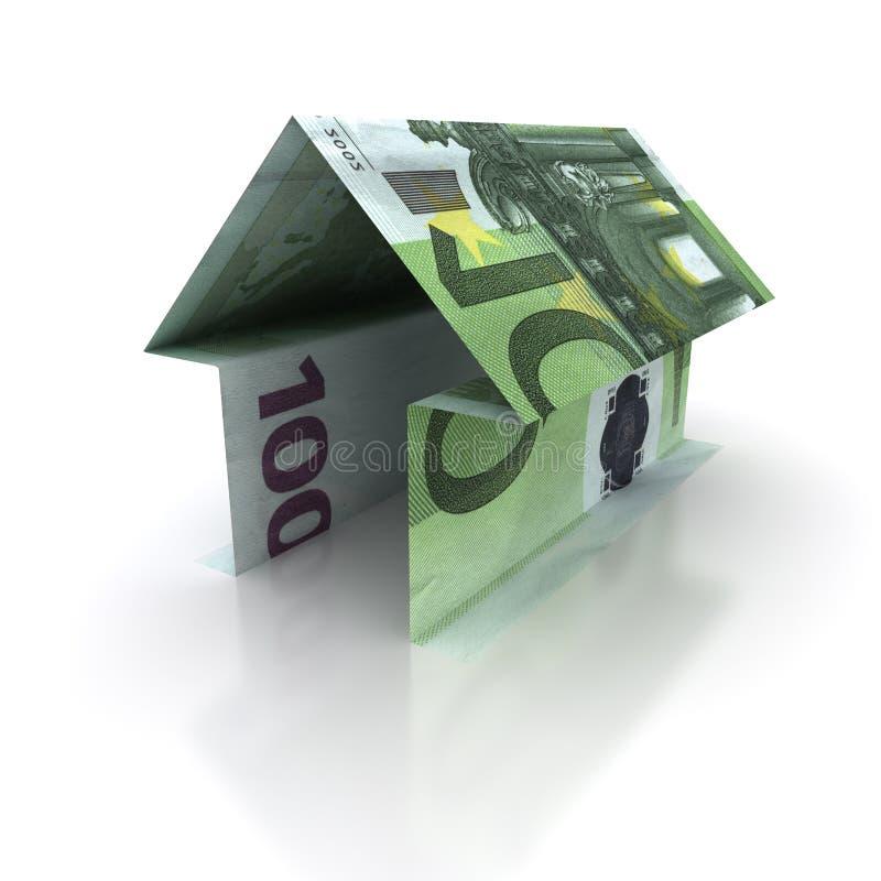ευρο- σπίτι διανυσματική απεικόνιση