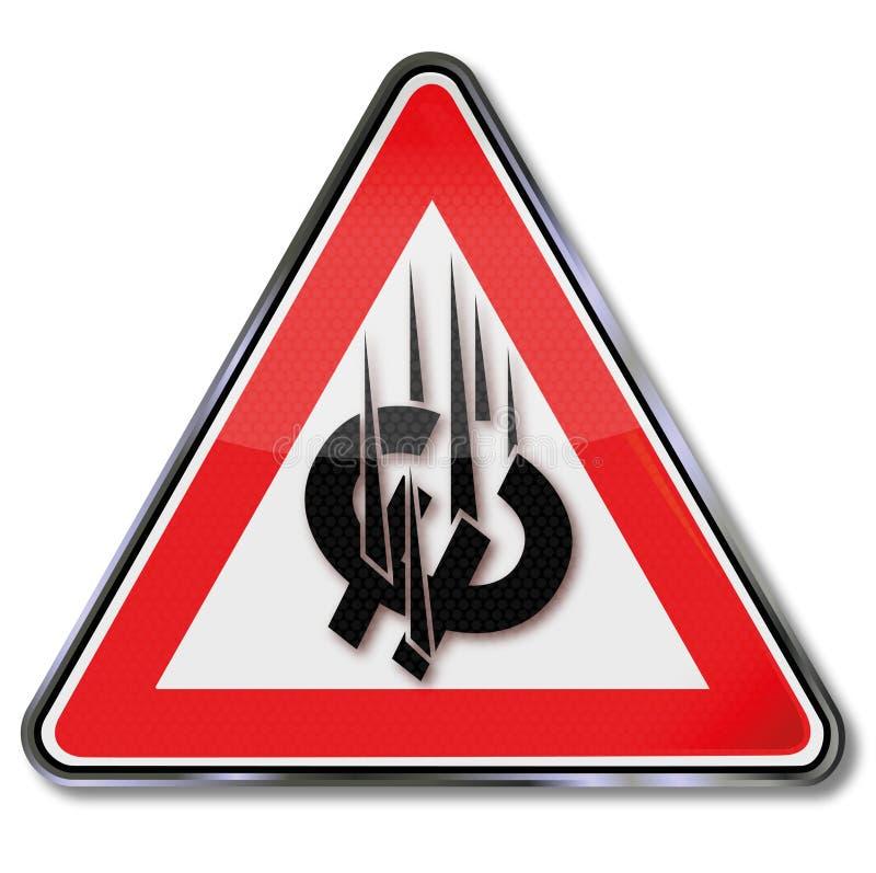 Ευρο- συντριβή σημαδιών απεικόνιση αποθεμάτων