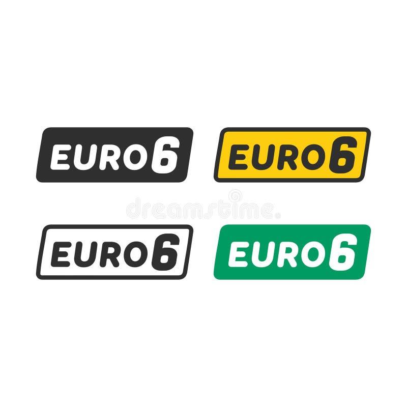 Ευρο- σύμβολο 6 διανυσματική απεικόνιση