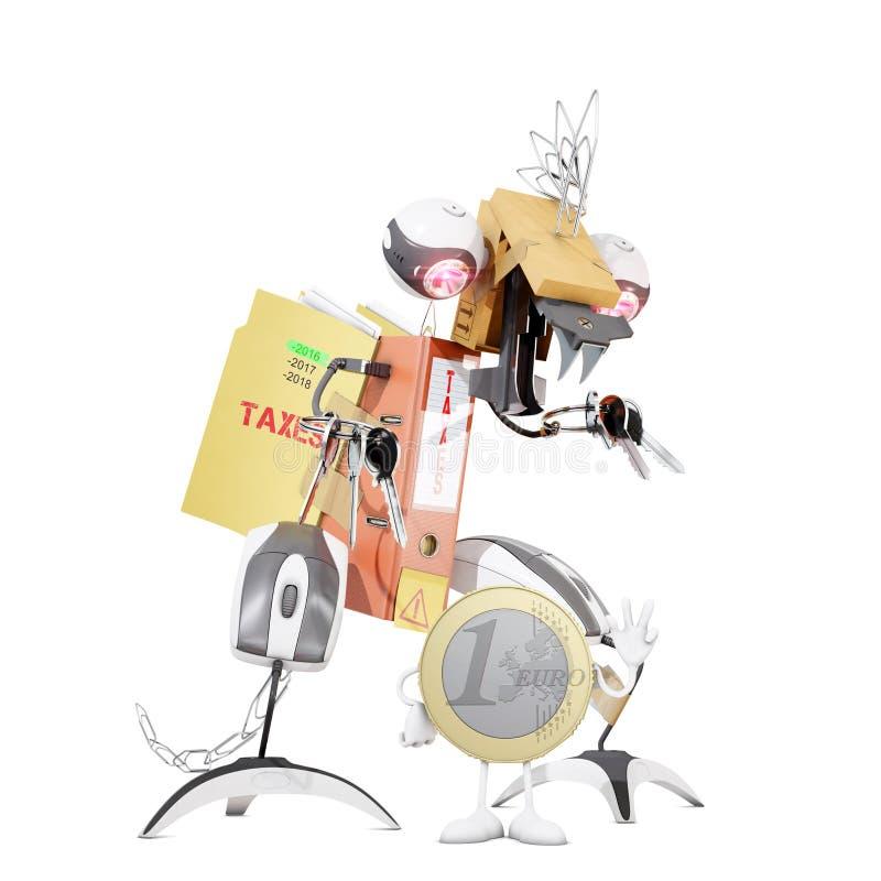Ευρο- τέρας νομισμάτων και φόρου διανυσματική απεικόνιση