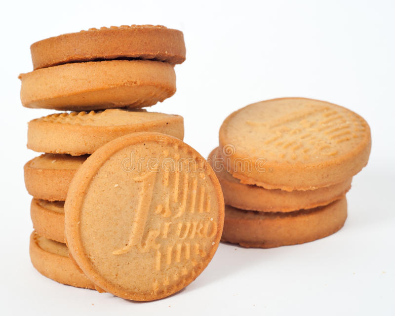 ευρο- χρήματα μπισκότων στοκ φωτογραφία