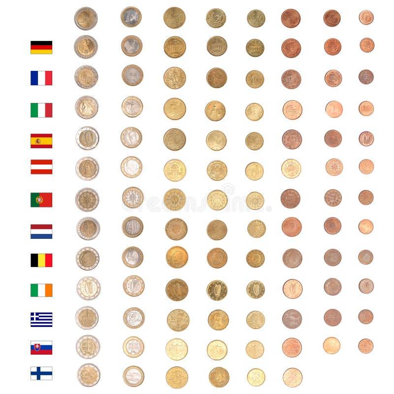 ευρο- χρήματα νομισμάτων απεικόνιση αποθεμάτων