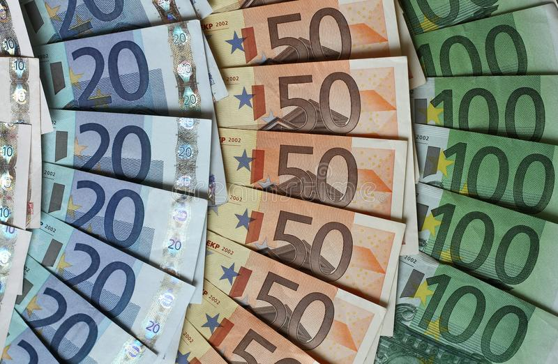 ευρο- χρήματα χρωμάτων στοκ φωτογραφία με δικαίωμα ελεύθερης χρήσης
