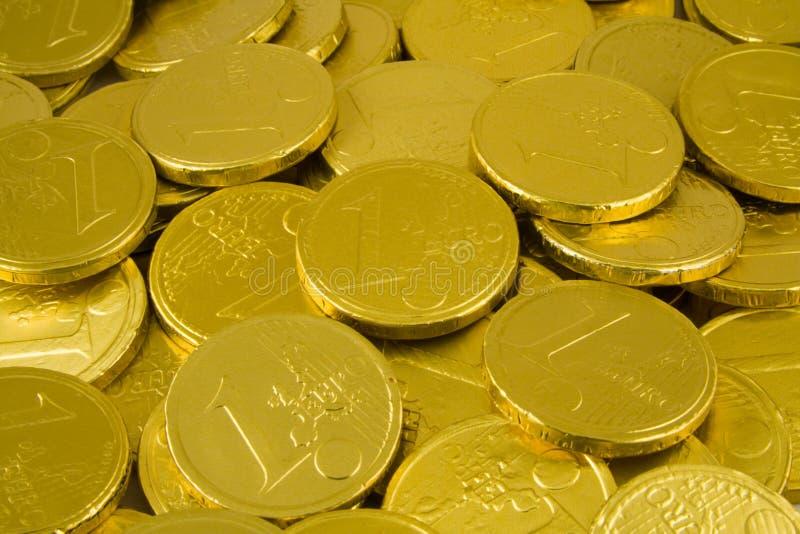 ευρο- χρυσός νομισμάτων σ& στοκ φωτογραφία με δικαίωμα ελεύθερης χρήσης