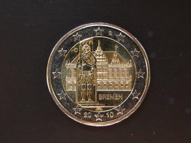ευρο- townhall νομισμάτων της Βρέμ στοκ εικόνα με δικαίωμα ελεύθερης χρήσης