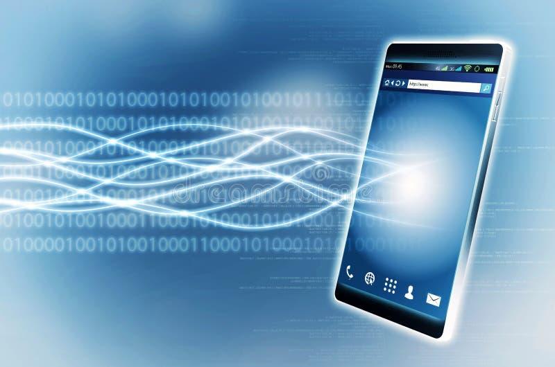 Ευρυζωνικό έξυπνο τηλέφωνο Διαδικτύου στοκ εικόνα