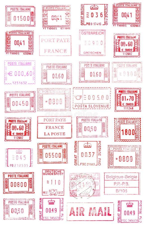 ευρωπαϊκά γραμματόσημα στοκ εικόνα