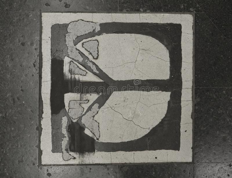Ευρωπαϊκά κεφάλαια Υπόγειος της Στοκχόλμης Διακόσμηση πατωμάτων στοκ εικόνα