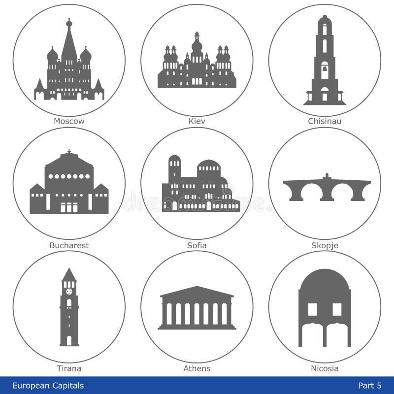 Ευρωπαϊκά κεφάλαια - σύνολο εικονιδίων (μέρος 5) απεικόνιση αποθεμάτων