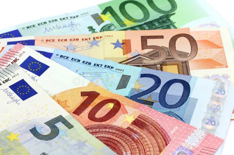 Ευρωπαϊκά τραπεζογραμμάτια, ευρο- νόμισμα από την Ευρώπη, ευρώ στοκ φωτογραφία με δικαίωμα ελεύθερης χρήσης