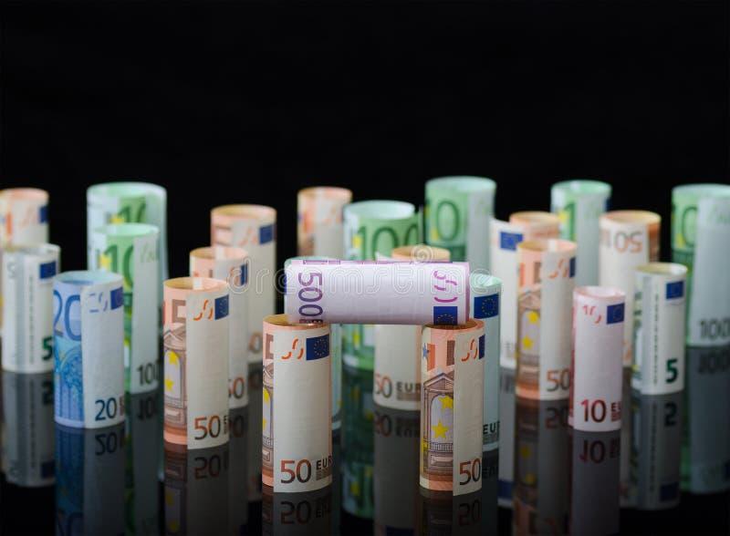 Ευρωπαϊκά χρήματα εγγράφου στους ρόλους στοκ φωτογραφία με δικαίωμα ελεύθερης χρήσης