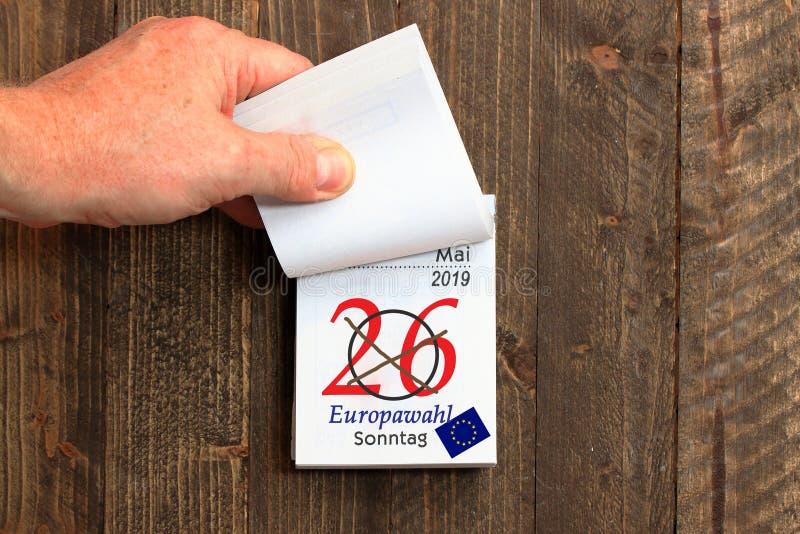 Ευρωπαϊκές εκλογές στις 29 Μαΐου 2019, το Ευρωπαϊκό Κοινοβούλιο στοκ εικόνα