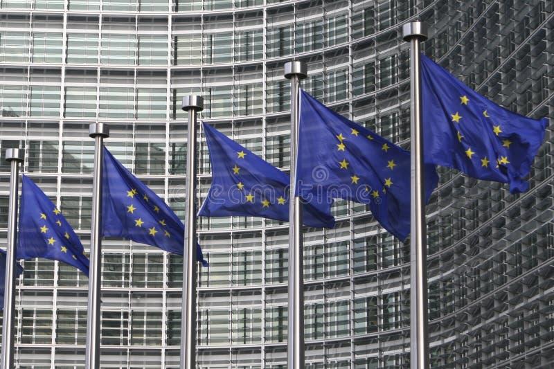 ευρωπαϊκές σημαίες των Βρ& στοκ εικόνες