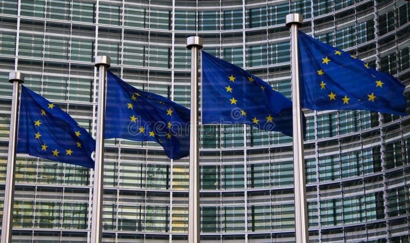 ευρωπαϊκές σημαίες στοκ φωτογραφία με δικαίωμα ελεύθερης χρήσης