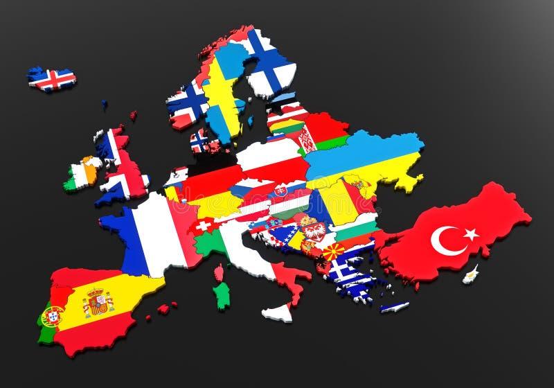 ευρωπαϊκές σημαίες ελεύθερη απεικόνιση δικαιώματος