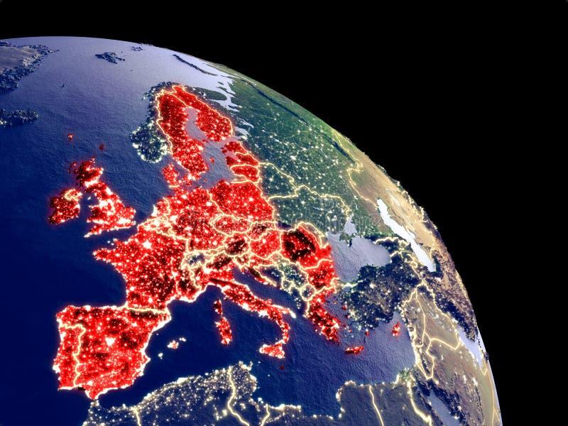 Ευρωπαϊκή Ένωση από το διάστημα απεικόνιση αποθεμάτων