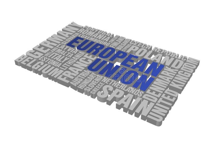 ευρωπαϊκή ένωση γρίφων διανυσματική απεικόνιση