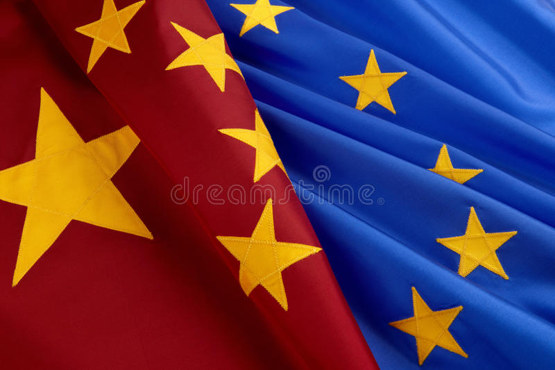 ευρωπαϊκή ένωση σημαιών της  στοκ φωτογραφία