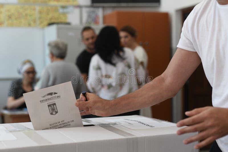 Ευρωπαϊκή εκλογή στο Βουκουρέστι, Ρουμανία στοκ εικόνα με δικαίωμα ελεύθερης χρήσης