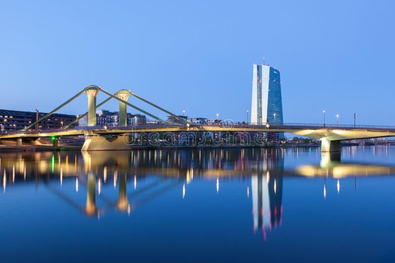 Ευρωπαϊκή Κεντρική Τράπεζα (ΕΚΤ) στη Φρανκφούρτη στοκ εικόνες