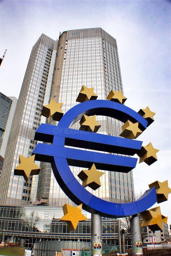 Ευρωπαϊκή Κεντρική Τράπεζα ΕΚΤ στοκ φωτογραφία