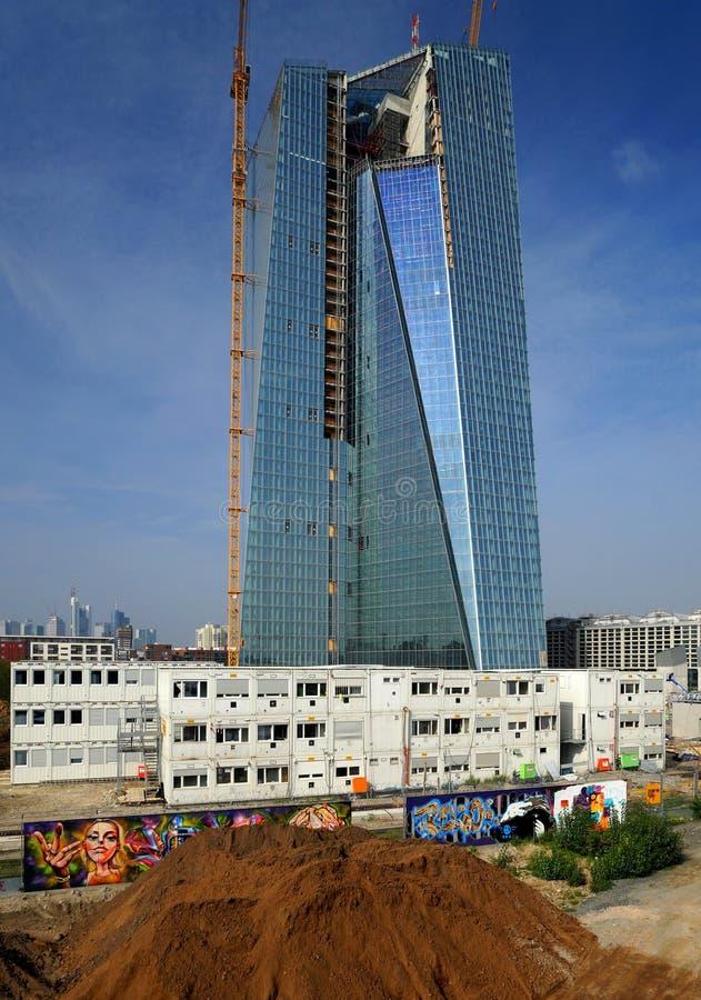 Ευρωπαϊκή Κεντρική Τράπεζα κάτω από την κατασκευή στοκ φωτογραφία με δικαίωμα ελεύθερης χρήσης