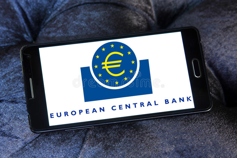 Ευρωπαϊκή Κεντρική Τράπεζα, λογότυπο ΕΚΤ στοκ εικόνες