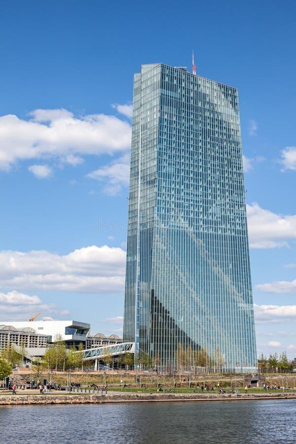 Ευρωπαϊκή Κεντρική Τράπεζα στη Φρανκφούρτη στοκ εικόνα