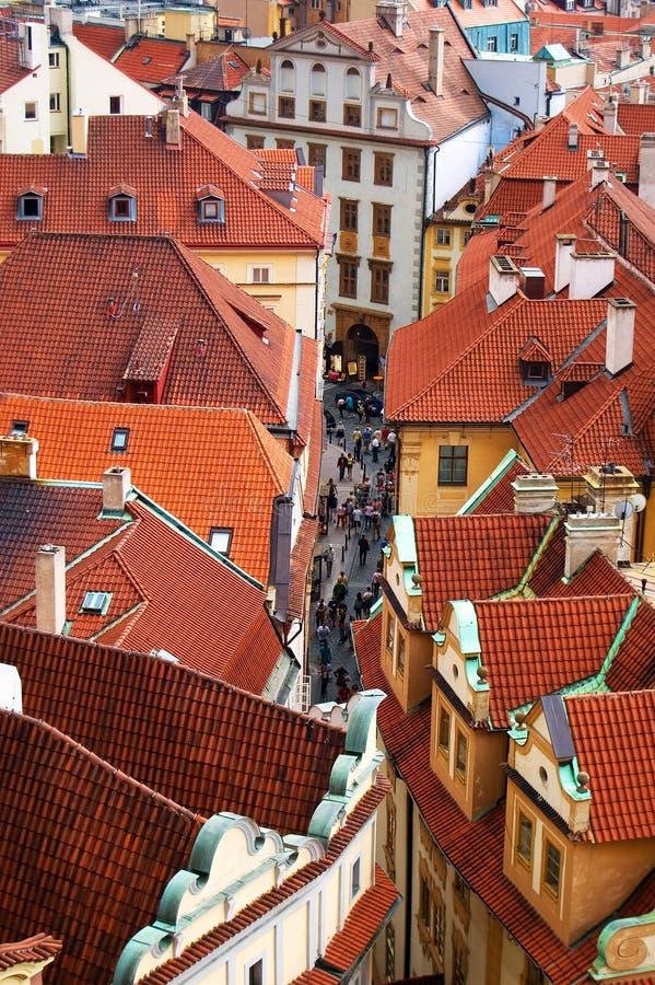 ευρωπαϊκή παλαιά πόλη οδών στοκ φωτογραφία με δικαίωμα ελεύθερης χρήσης