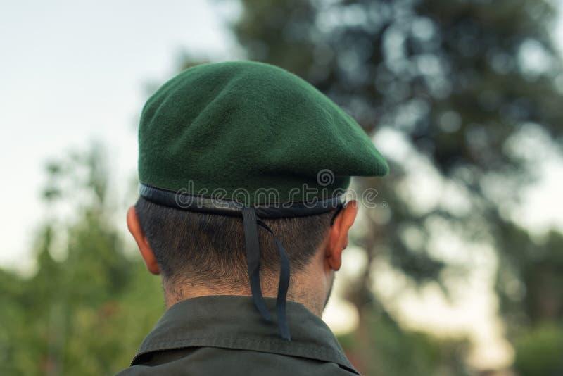 Ευρωπαϊκός ανώτερος υπάλληλος πράσινο beret στοκ φωτογραφία με δικαίωμα ελεύθερης χρήσης