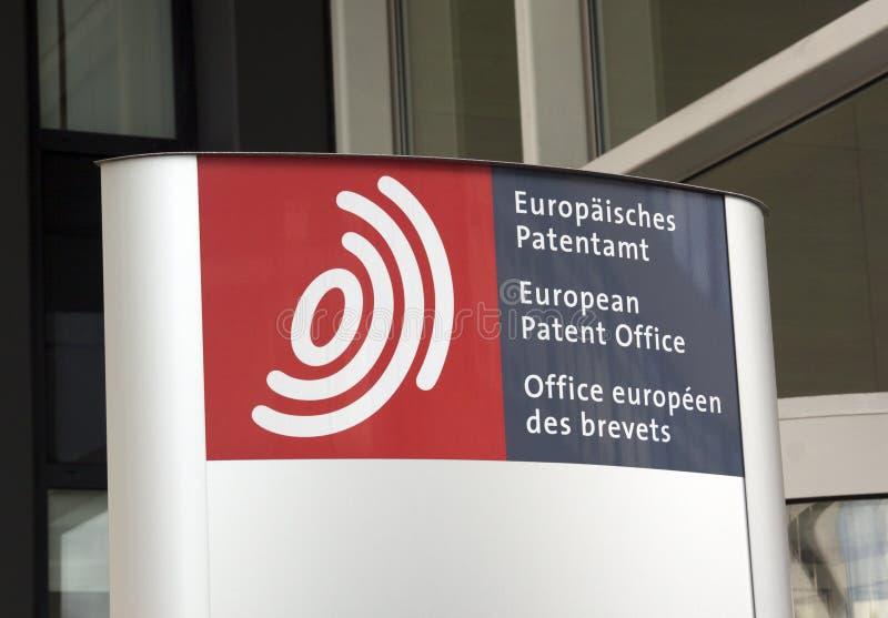 ευρωπαϊκό δίπλωμα ευρεσιτεχνίας γραφείων στοκ φωτογραφία
