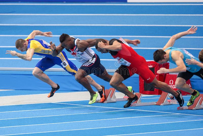 Ευρωπαϊκό εσωτερικό πρωτάθλημα 2013 αθλητισμού στοκ εικόνα με δικαίωμα ελεύθερης χρήσης